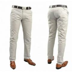 Mens Official Fitting Khaki Pants CREAM 36