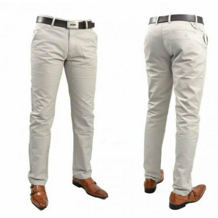 Mens Official Fitting Khaki Pants CREAM 36