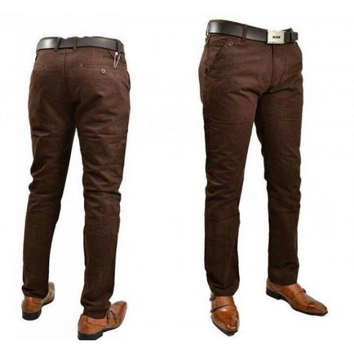 Mens Official Fitting Khaki Pants BROWN 38