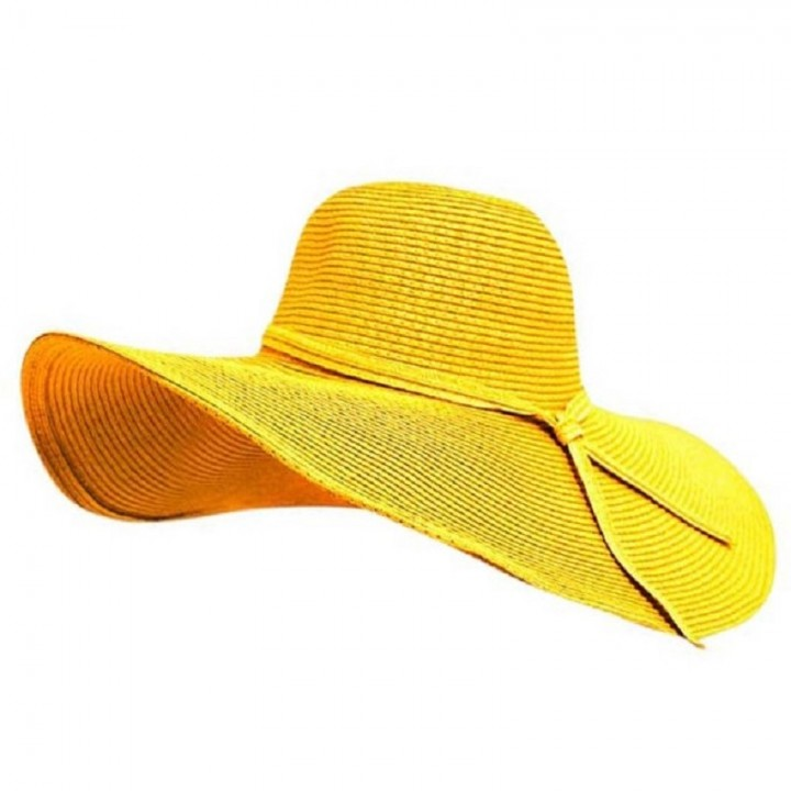 New Fashion Sun Hat Women s Summer Foldable Straw Hats For Women Beach  Headwear - Yellow cad0084de145