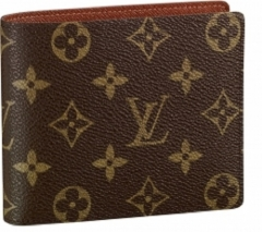 Louis Vuitton Flowered Leather Wallet