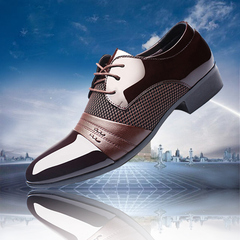 New men's business dress shoes 47/48 extra large men's shoes brown 48 leather