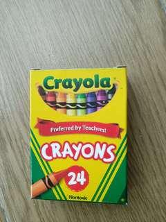 Cute Cartoon Universal Bright Colorful Bar Plastic Crayon 24 COLORMIX Colorful A box