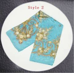 Square Scarf Hair Tie Band For Business Party Women Elegant Head Neck Silk Satin Scarf 70*70cm Style 2