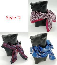Square Scarf Women Flower Printed Head Scarf  fashion Neckerchief  50*50cm 3 pieces style 2