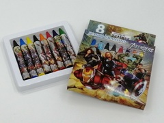 Cute Cartoon Universal Bright Colorful Bar Plastic Crayon 8 COLORMIX BIG The Avengers one size