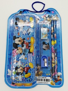 Cute Cartoon Pencil Case for Kids ,Children Pen Box and pencil ,School Stationery Supplies (6 Gifts) Mickey Mouse