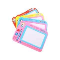 Children's magnetic writing board, drawing board, handwriting board, baby toys(5 Gifts) pink nomal