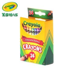 Cute Cartoon Universal Bright Colorful Bar Plastic Crayon 24 COLORMIX(5 Gift) Colorful A box