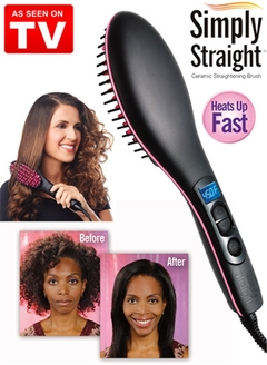 Straight Hair Straightener Comb Digital Electric Straightening Hair Dryer Brush ONE COLOR 27.5cm*7cm*4cm