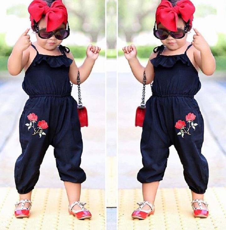 Kids Girls Jumpsuits Summer Baby Girl Jumpsuit Bodysuits