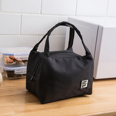 Portable Lunch Bag Thermal Insulated Lunch Box Tote Cooler Bag Bento Pouch school Food Storage Bags black one size