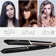 High qulity Professional Straightener Curler Hair Flat Iron Negative Ion Infrared Hair LED Display one color 12.2inch