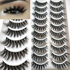 Kilimall Kenya 5th10 Pairs natural Mink 3D False Eyelashes Extension Thick Wispy Fluffy eye Makeup 502