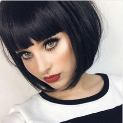 Kilimall Kenya 5th Short Bob Wigs For Women Wigs Hair  Fiber Synthetic Party Wigs Charming black 14inch