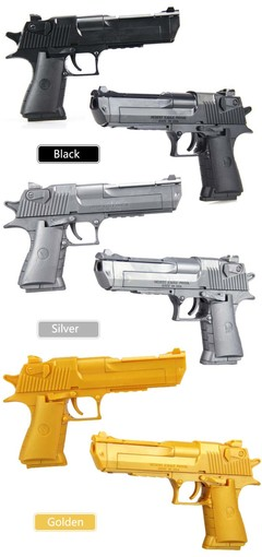 Educational kids toys building blocks gun model building kit pistol Gun Assembly Puzzle Brain Game silver one size