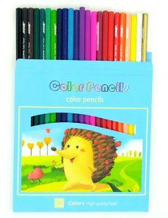 High quality Color Pencil  School Student Children Color Lead Brush Set Stationery 24 Color 24Pcs