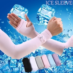 Cooling Arm Sleeves Sun UV Protection Cover Cycling Bike Sports UV Cycling Sports Cooling Arm Sleeve black