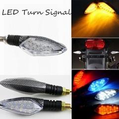 Bike Motorcycle 12V Front Rear Lamp LED Turn Signal Blinker Light Bike Safety LED Turn Signal Light white one size