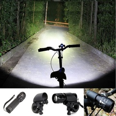 LED Flashlight Torch Clip Mount Bicycle Front Light Bracket Flashlight Holder bike lights Mount black one size