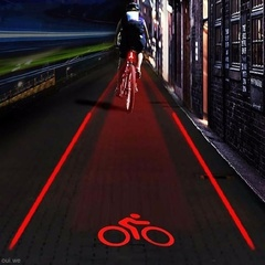 Rear Safety Tail Lights Bicycles With 5 LED Light Modes Color Red Light Blue Light Bike Tail Light red one size