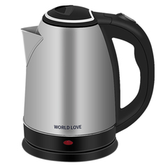 6 months warranty WORLD LOVE 2.0L Certificate 220-240V Stainless Steel Electric Kettle UK plug black 2L