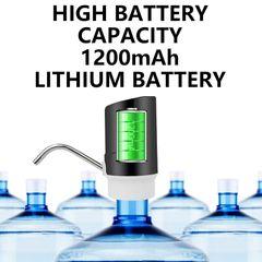 KP Electric Water Pump Wireless 1200mAh USB Rechargeable Water Diapenser Kitchen appliances Black