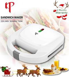 6 Months Warranty KP Sandwich Maker Stripe Inner or Triangular Inner Home Breakfast Machine White Strip Inner