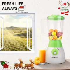 6 months warranty KP juicer extractor blender with siamese cup for full fruits vegetables green 1.5L