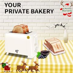 6 Month Warranty Bread Toaster - Pop Up Electric Bread Toaster Bread Maker 2 Slice 750W white one size