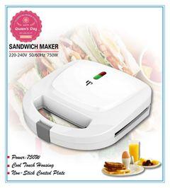KP 6 Months Warranty Sandwich Maker Toaster Stripe Inner or Triangular Inner Home Breakfast Machine White Strip Inner
