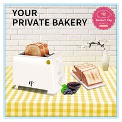 KP 6 Month Warranty Bread Toaster Pop Up Electric Sandwich Toaster Bread Maker 2 Slice 750W white one size