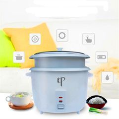 KP 6 Months Warranty Stainless Steel Rice Cooker Steamer 1.8L Capacity 800W Power White 1.8L