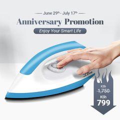 KP 6 Months Warranty Iron Box High Power 1200W Heating Heavy Duty Electric Dry Iron UK plug Blue&White