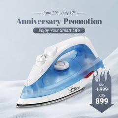 KP 6 Months Warranty Iron Box High Power 1600W Heating Heavy Duty Electric Steam Iron UK Plug Blue&White