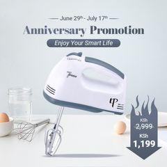 KP 6 Months Warranty Electric Hand Mixer Automatic  Egg Beater Blender Kitchen appliances White