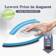 KP 6 Months Warranty Iron Box High Power 1200W Heating Heavy Duty Electric Dry Iron UK plug Blue&White
