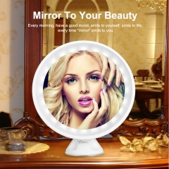 (Buy 1 Get 1 Gift)  7X Maginifcation 24 LEDs Makeup Mirror 360°  Free Rotation White