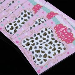 50pcs Fashion 3D DIY Butterfly Nail Art Shinning Stickers