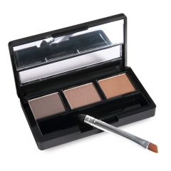 3 Colours Waterproof Eyebrow Powder Shadow Palette with Brush 3#
