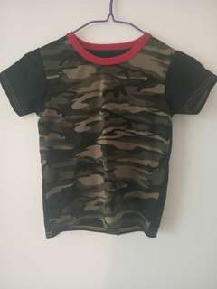 Baby Clothes Boys Tee Shirt 2 Colors Short Sleeve Shirts Tops Boy Clothing 90% cotton Camouflage ks1 12-36months 90% cotton