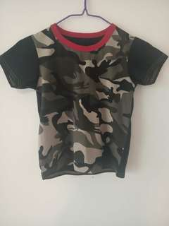 Baby Clothes Boys Tee Shirt 2 Colors Short Sleeve Shirts Tops Boy Clothing 90% cotton Camouflag ks2 12-36months 90% cotton