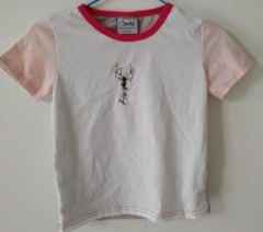 Baby Clothes BBoys Tee Shirt  Short Sleeve Shirts Tops Kids Boy Clothing 90 cotton White Pink ks1 12-36months 90% cotton