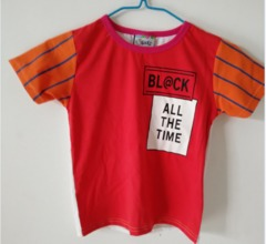 Baby Clothes Boys Tee Shirt  Short Sleeve Shirts Tops Kids Boy Clothing 90 cotton Red ks1 12-36months 90% cotton