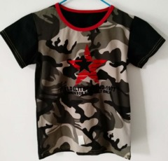 Baby Clothes Boys Tee Shirt  Short Sleeve Shirts Tops Kids Boy Clothing 90 cotton Green Camouflage ks1 12-36months 90% cotton
