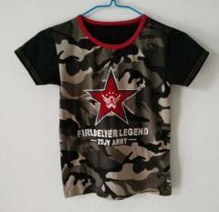 Baby Clothes Boys Tee Shirt  Short Sleeve Shirts Tops Kids Boy Clothing 90 cotton Green Camouflage ks2 12-36months 90% cotton