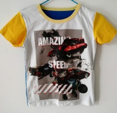 Baby Clothes Boys Tee Shirt  Short Sleeve Shirts Tops Kids Boy Clothing 90 cotton White ks1 12-36months 90% cotton