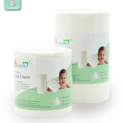 Elinfant 1 Roll Disposable Bamboo Flushable Baby Diaper Nappy Liner Biodegradable Bamboo Liner white 28cmx11.5xm