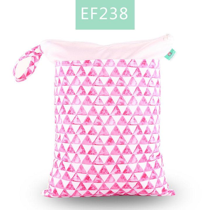 Elinfant 1PC Wet Dry Diaper Bag Double Pocket Cloth Handle Wetbags 30*40CM EF238 30x40cm