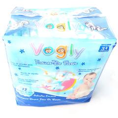 Vogly Baby Diaper, Medium 6-9Kgs,Count 12pcs For Baby blue M12(6-9kgs) blue m48(6-9)kgs